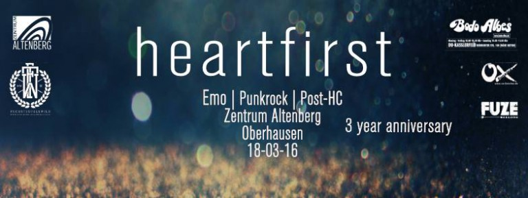 "3 Jahre ""Heart First"" (Midwest 90's Emo, Post HC, Punkrock)"