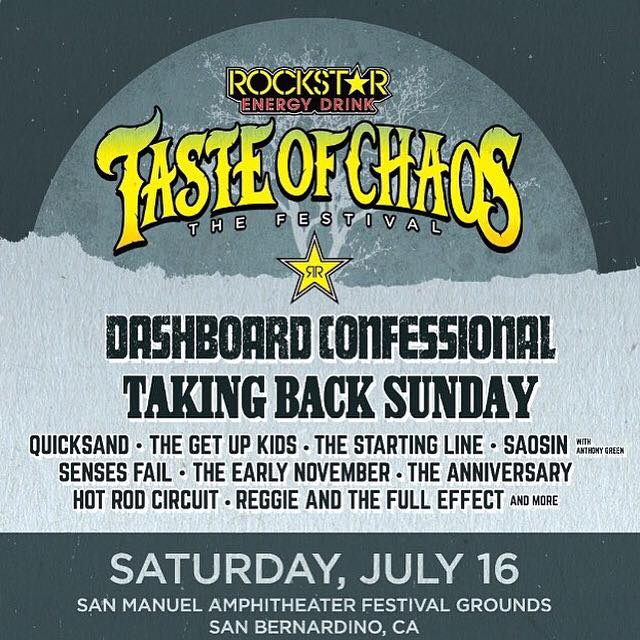 Taste of Chaos-Tour 2016 goes Emo – in den USA