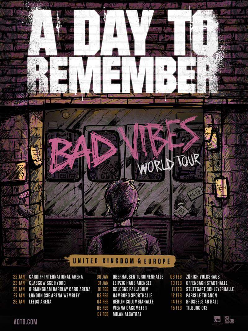 A Day To Remember European Tour