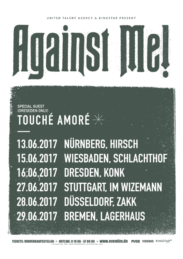 Against Me Tour 2017