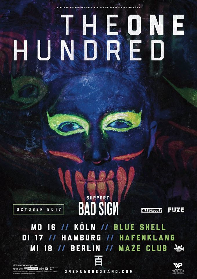 Konzert-Bericht: The One Hundred & Bad Sign am 16.10.2017 in Köln
