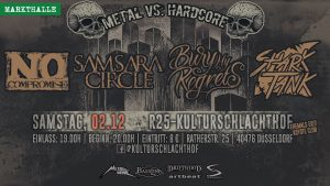 Samsara Circle, No Compromise, Bury My Regrets, Shark Tank @ Session Club R25 (Kulturschlachthof) | Düsseldorf | Nordrhein-Westfalen | Deutschland