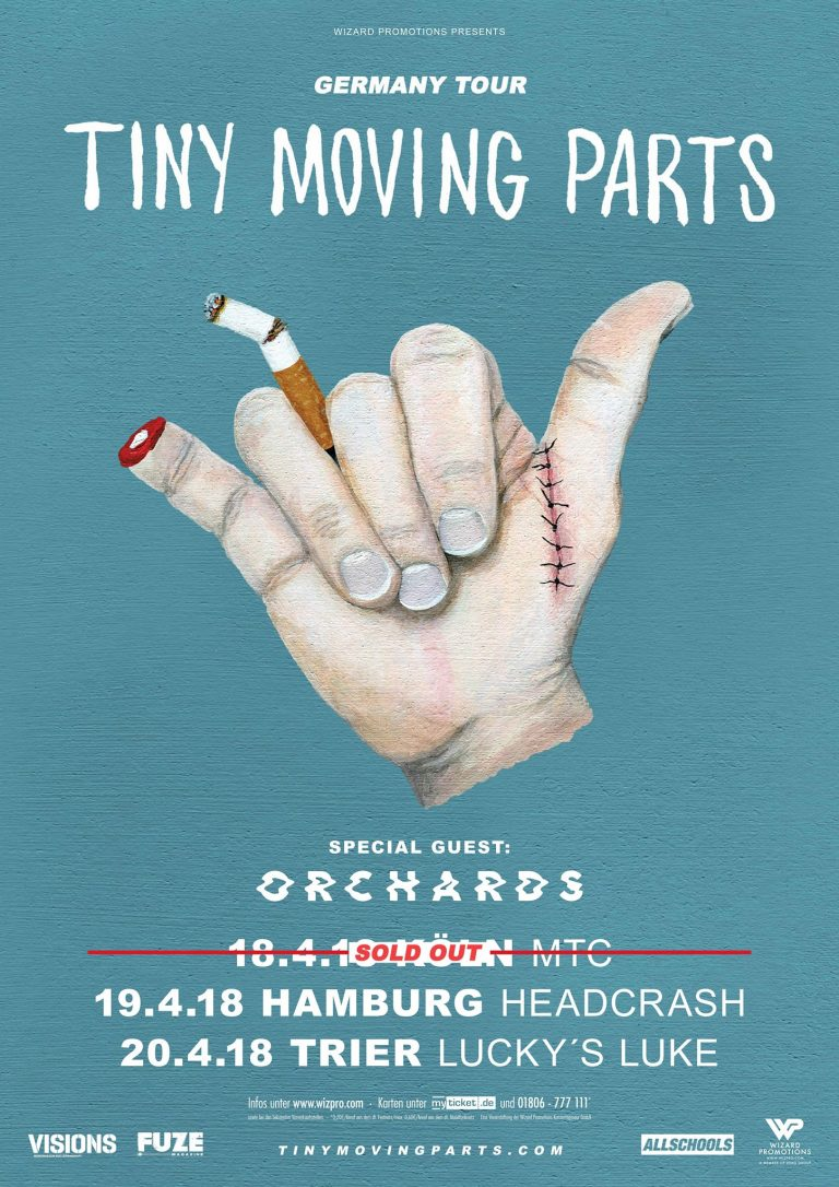 Photo-Galerie und Konzert-Kurzbericht: Tiny Moving Parts, Orchards im MTC, Köln